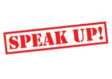 Μιλήστε επάνω! διανυσματική απεικόνιση