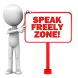 Μιλήστε ελεύθερα απεικόνιση αποθεμάτων