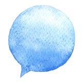 Μιλήστε το μπλε watercolor φυσαλίδων διάνυσμα εικόνας απεικόνισης στοιχείων σχεδίου Συρμένη χέρι ομιλία διανυσματική απεικόνιση