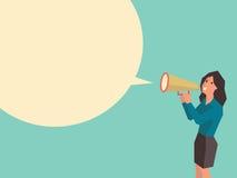 μιλώντας γυναίκα διανυσματική απεικόνιση