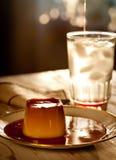 μμένη εύγευστη ζάχαρη κρέμα&sig στοκ φωτογραφία