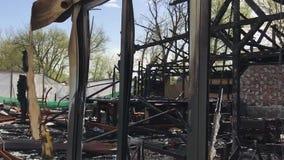 Μμένη πυρκαγιά λεσχών απόθεμα βίντεο
