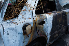 Μμένο γκρίζο αυτοκίνητο Στοκ φωτογραφία με δικαίωμα ελεύθερης χρήσης