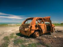Μμένο σκουριασμένο αυτοκίνητο Στοκ εικόνα με δικαίωμα ελεύθερης χρήσης
