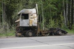 Μμένο φορτηγό στην οδική πλευρά Στοκ Φωτογραφία