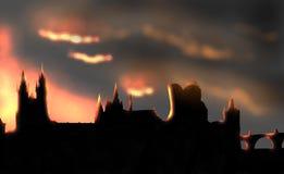 Μνήμη ηλιοβασιλέματος της Πράγας Στοκ εικόνες με δικαίωμα ελεύθερης χρήσης
