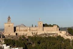 Μνημεία στην Ισπανία η ακρόπολη Antequera στη Μάλαγα Στοκ Εικόνες
