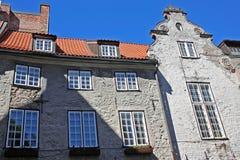 Μνημεία της αρχιτεκτονικής στην παλαιά Ρήγα, Λετονία Στοκ εικόνα με δικαίωμα ελεύθερης χρήσης