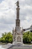 Μνημείο άνω και κάτω τελειών, εικόνα της πόλης της Μαδρίτης, το χαρακτηριστικό του Στοκ Εικόνες