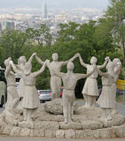 Μνημείο ένα Λα Sardana, Βαρκελώνη, Ισπανία Στοκ Φωτογραφία