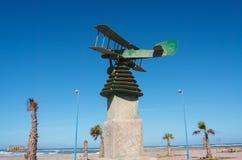 Μνημείο αεροπορίας στον πειραματικό Antoine de Saint-Exupery, σε Tarfaya, Μαρόκο Στοκ Εικόνα
