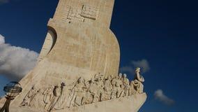Μνημείο ανακαλύψεων θάλασσας στη Λισσαβώνα Πορτογαλία Στοκ Φωτογραφίες
