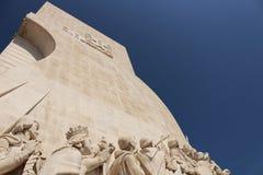 Μνημείο ανακαλύψεων στη Λισσαβώνα Στοκ Εικόνες