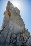 Μνημείο ανακαλύψεων στη Λισσαβώνα, Πορτογαλία Στοκ Εικόνες