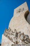 Μνημείο ανακαλύψεων στη Λισσαβώνα, Πορτογαλία Στοκ Φωτογραφίες