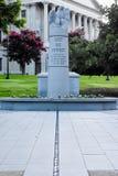 Μνημείο αξιωματούχων επιβολής νόμου της νότιας Καρολίνας στην Κολούμπια, Sc Στοκ Εικόνες
