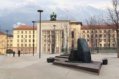 Μνημείο απελευθέρωσης σε Landhausplatz στο Ίνσμπρουκ Στοκ εικόνες με δικαίωμα ελεύθερης χρήσης