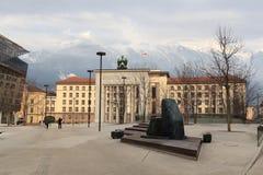 Μνημείο απελευθέρωσης σε Landhausplatz στο Ίνσμπρουκ Στοκ εικόνα με δικαίωμα ελεύθερης χρήσης