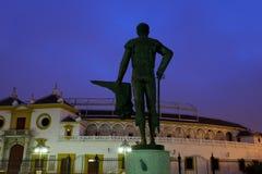 Μνημείο από Plaza de Torros στη Σεβίλλη Στοκ Εικόνες