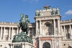 Μνημείο αλόγων και αναβατών (αρχιδούκας Charles/Erzherzog Karl) - Βιέννη/Wien Αυστρία Στοκ Εικόνες