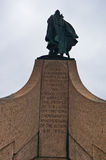 Μνημείο Βίκινγκ Leifr Eiricsson, ανακαληπτής της Αμερικής στο Ρέικιαβικ Στοκ εικόνα με δικαίωμα ελεύθερης χρήσης