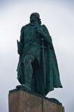 Μνημείο Βίκινγκ Leifr Eiricsson, ανακαληπτής της Αμερικής στο Ρέικιαβικ Στοκ φωτογραφία με δικαίωμα ελεύθερης χρήσης