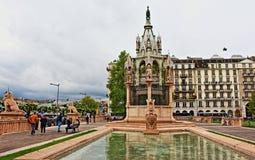 Μνημείο Γενεύη Ελβετία του Brunswick Στοκ Εικόνες
