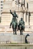 Μνημείο για να φορέσει Δον Κιχώτης Plaza de España στη Μαδρίτη Στοκ Εικόνα