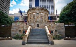 Μνημείο για το αυστραλιανό και στρατιωτικό σώμα της Νέας Ζηλανδίας, Μπρίσμπαν στοκ εικόνα