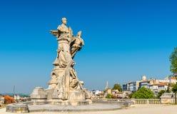 Μνημείο για Sadi Carnot, ένας αρχαίος γαλλικός Πρόεδρος Angouleme, Γαλλία Στοκ Φωτογραφίες
