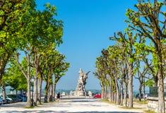 Μνημείο για Sadi Carnot, ένας αρχαίος γαλλικός Πρόεδρος Angouleme, Γαλλία Στοκ φωτογραφία με δικαίωμα ελεύθερης χρήσης