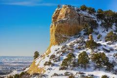 Μνημείο δεινοσαύρων στο Κολοράντο, χειμώνας Στοκ φωτογραφία με δικαίωμα ελεύθερης χρήσης