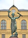 Μνημείο ειρήνης σε Karlstad, Σουηδία στοκ φωτογραφία