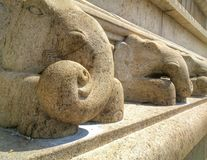 Μνημείο ελεφάντων Στοκ εικόνες με δικαίωμα ελεύθερης χρήσης