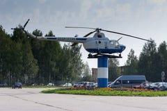 Μνημείο ελικοπτέρων ` s στον αερολιμένα, Uchta Στοκ εικόνες με δικαίωμα ελεύθερης χρήσης