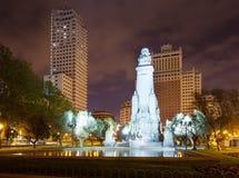 Μνημείο Θερβάντες στην πλατεία της Ισπανίας στη Μαδρίτη Στοκ φωτογραφία με δικαίωμα ελεύθερης χρήσης