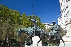 Μνημείο Θερβάντες στη Μαδρίτη, Ισπανία Στοκ φωτογραφία με δικαίωμα ελεύθερης χρήσης