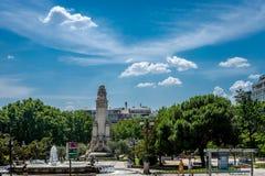 Μνημείο Θερβάντες Plaza de España Μαδρίτη, Ισπανία, Ευρώπη Στοκ Εικόνες