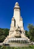 Μνημείο Θερβάντες Plaza de España, Μαδρίτη, Ισπανία Στοκ Φωτογραφίες
