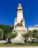 Μνημείο Θερβάντες Plaza de España, Μαδρίτη, Ισπανία Στοκ Εικόνες