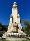 Μνημείο Θερβάντες Plaza de España, Μαδρίτη, Ισπανία Στοκ φωτογραφίες με δικαίωμα ελεύθερης χρήσης