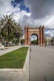 Μνημείο, θριαμβευτική αψίδα, Arc de Triomf, από το Josep Vilaseca ι Casanovas Χτισμένος ως κύρια πύλη πρόσβασης για τον κόσμο 188 Στοκ φωτογραφία με δικαίωμα ελεύθερης χρήσης