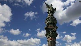 μνημείο Ισπανία της Βαρκε&la απόθεμα βίντεο