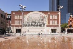 Μνημείο ιχνών Chisholm στο Fort Worth Στοκ εικόνα με δικαίωμα ελεύθερης χρήσης