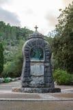 Μνημείο κατά την πλάγια όψη κινηματογραφήσεων σε πρώτο πλάνο Lluc, Μαγιόρκα Ισπανία 05 01.2017 Στοκ φωτογραφία με δικαίωμα ελεύθερης χρήσης