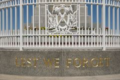 Μνημείο κρατικού πολέμου - Περθ - Αυστραλία στοκ φωτογραφία με δικαίωμα ελεύθερης χρήσης