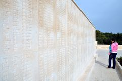 Μνημείο μαρτύρων για το 57ο σύνταγμα πεζικού, Canakkale Στοκ Εικόνες