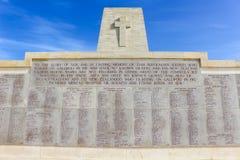 Μνημείο με τα ονόματα σε Anzac Τουρκία Στοκ φωτογραφία με δικαίωμα ελεύθερης χρήσης