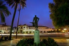 Μνημείο μπροστά από Plaza de Toros στη Σεβίλλη Στοκ Εικόνες