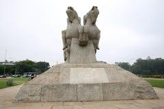 Μνημείο οι σημαίες Σάο Πάολο Βραζιλία πάρκων Ibirapuera Στοκ φωτογραφίες με δικαίωμα ελεύθερης χρήσης